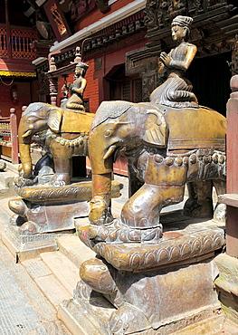 Buddhist Golden temple (15th century), Patan, Lalitpur, Nepal.