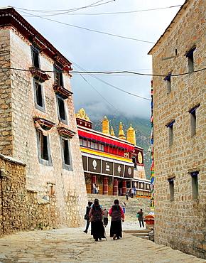 Drepung monastery, Mount Gephel, Lhasa Prefecture, Tibet, China.