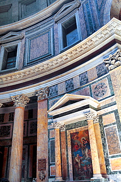 Interior of Pantheon, Rome, Italy.