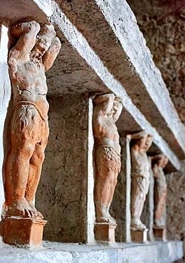 Bath house Telamon, Pompeii, Campania, Italy.