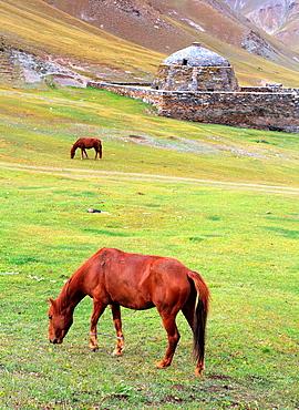 Tash Rabat Caravanserai (15th century), Naryn oblast, Kyrgyzstan.
