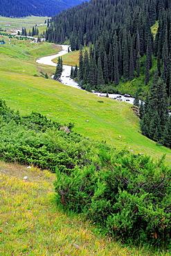 Altyn Arashan valley, Issyk Kul oblast, Kyrgyzstan.