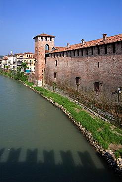The scaliger castle Castelvecchio, Verona, Italy.