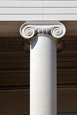 Ionic capital at National Gallery, Washington D.C., USA.
