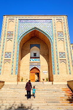 Kukeldash Madrasah, also known as Kukaldosh Madrasah, Tashkent, Uzbekistan.