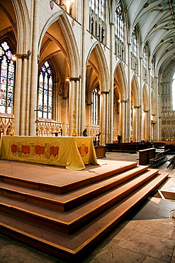 Interior view of the York Minster, York, North Yorkshire, England
