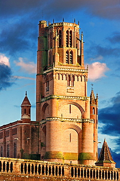 Europe, France, Tarn, Albi. Episcopal city, classified as UNESCO World Heritage. Cathedral Sainte-Cecile.