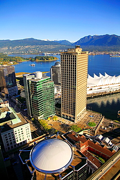 Canada, Vancouver, skyline, Coal Harbour, Canada Place,.