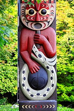 Canada, Vancouver, Stanley Park, totem pole, aboriginal art,.