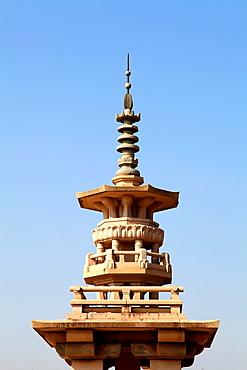 South Korea, Gyeongju, National Museum, Dabo-tap Pagoda, replica,.