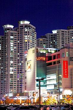 South Korea, Busan, Centum City, Lotte Department Store,.
