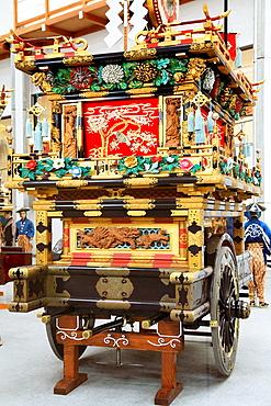Japan, Hida, Takayama, Festival Floats, Exhibition Hall,.