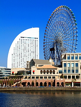 Japan, Yokohama, Minato Mirai, InterContinental, Ferris Wheel,.