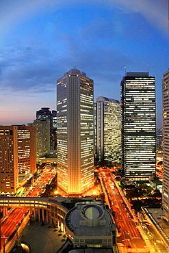 Japan, Tokyo, Shinjuku, skyline, skyscrapers,.