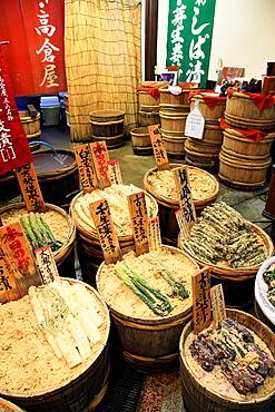 Japan, Kyoto, Nishiki Food Market,.