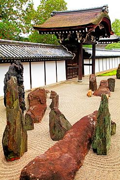 Japan, Kyoto, Tofukuji Temple, rock garden,.