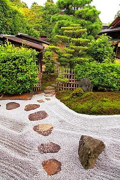 Japan, Kyoto, Daitokuji Temple, Zuiho-in, Garden of the Cross,.
