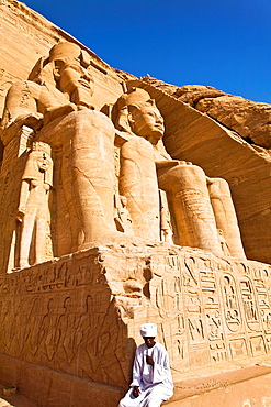 ramses II in abu simbel ruins. egypt.