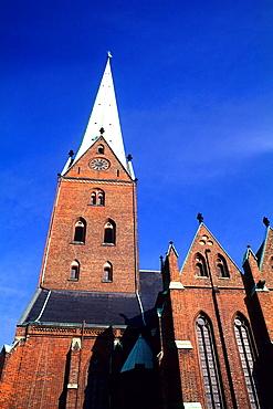 Clasic Architecture of St Petri Church Hamburg Germany.