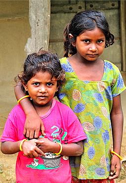 Tharu young girls, Chitwan National Park, Nepal