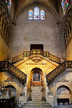 Golden stairs,by Diego de Siloe. Cathedral, Burgos, Spain