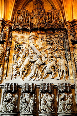 Ambulatory, scene of the Passion, Cathedral, Burgos, Spain