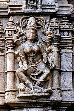 Amreshwar temple of Shiva. Vishnu on Mandovara. Ambarnath, Maharashtra India.