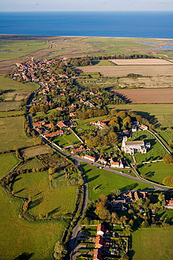 Cley Village and Church Norfolk UK October