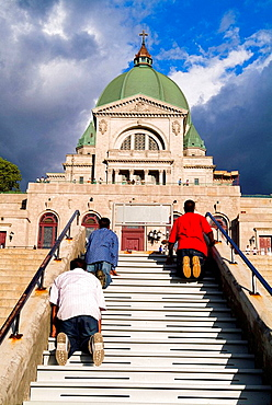 Montreal, Quebec, Canada, Christian pilgrims at the Oratory