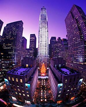 Christmas, Rockefeller Center, Midtown, Manhattan, New York, USA