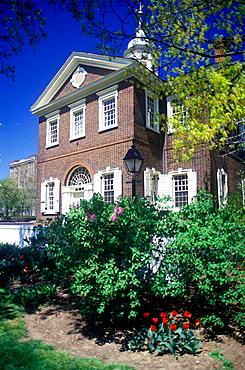 Carpenter's hall, Philadelphia, Pennsylvania, USA.