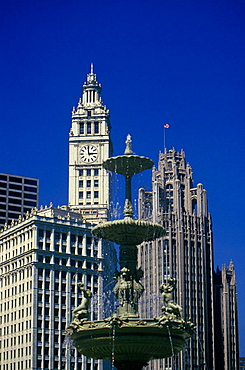 Wrigley building, The loop, Chicago, Illinois, USA.