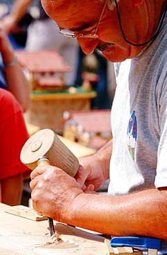 Wood carving, Legazpi, Euskadi, Spain