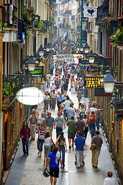 Fermin Calbeton Street in old town Donostia (San Sebastian), Guipuzcoa, Euskadi, Spain