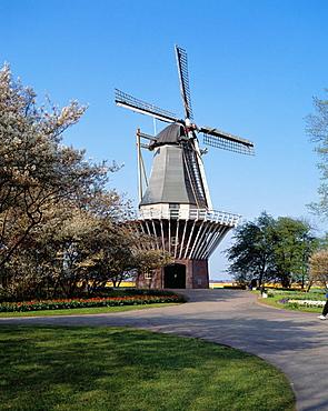 Windimill at the Keukenhof Gardens, Lisse, Holland