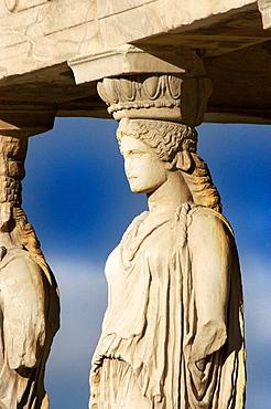 Cariathides of the Erechtheion, Acropolis, Athens, Greece