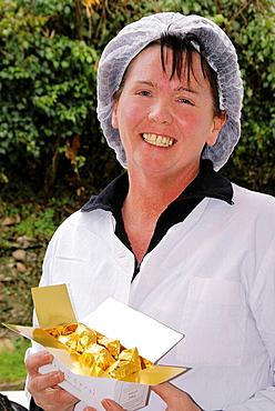 Marrons Glaces 'Dolci Corsi' from 'Casa Di a Castagna', at Zevaco: Mrs Veronique Leoni, Corsica, France