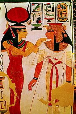 Queens Valley: detail of the Nefertari tomb, Luxor west bank, Egypt
