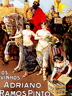 Sexy and art nouveau advertising posters commissioned by Adriano Ramos Pinto, the founder of the firm which bears his name, Port wine (Vinho do Porto), Oporto, Portugal