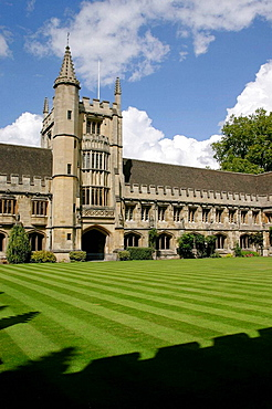 Magdalen College, Founder's Tower, Cloister, Oxford, Oxfordshire, England, Great Britain