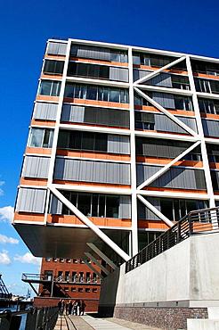 Modern architecture apartment of Hafen City, Magellan-Terrassen, Hamburg, Germany