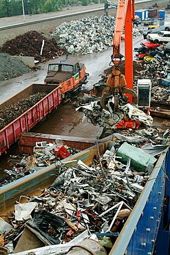 Recycling plant, Skelleftea, Sweden.