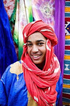 Moroccan Souvenir Seller, Ait Benhaddou, South of the High Atlas, Morocco