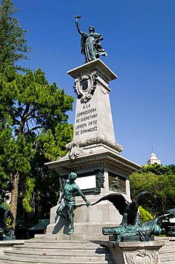 MEXICO-Queretaro State-Queretaro: Monument to the Corregidora-Commemorates La Corregidora (wife of district administrator) Josefa Ortiz pioneer of Mexican Independeance