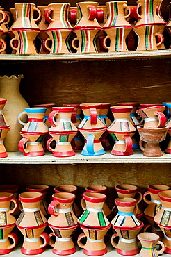 OMAN-Western Hajar Mountains-Nizwa: Nizwa Souk / Pottery For Sale