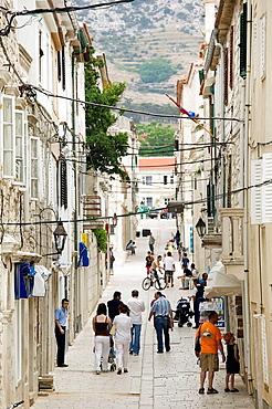 Croacia, Zadar region,Pag island, Pag town .
