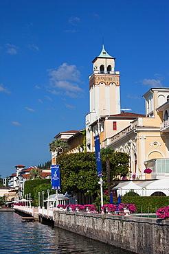 Italy, Lombardy, Lake District, Lake Garda, Gardone Riviera, the Grand Hotel, morning
