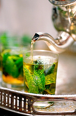 Tea time, Riad Maison Bleue, Fes, Morocco.