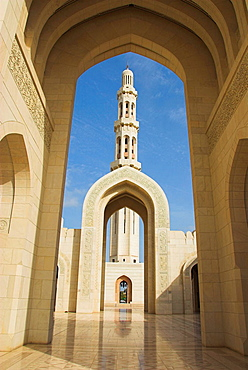 Archways at the Sultan Qaboos Grand Mosque, Muscat, Oman