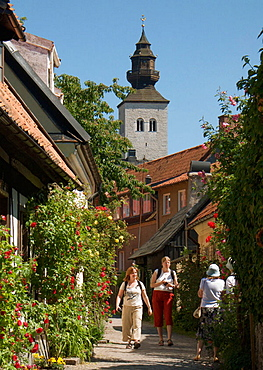 Cobbled lane and Houses, Visby, Gotland, Sweden